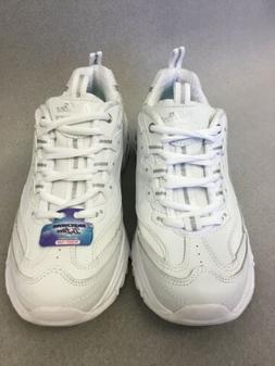 Skechers 11931 Womens D'lites Memory Foam Walking Shoes Whit
