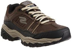 Skechers Men's After Burn Memory Fit Procession Sneaker,Brow