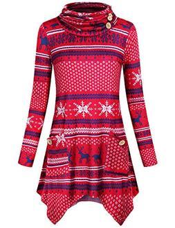 Hibelle Christmas Sweatshirts for Women, Ladies Tops Unique