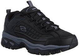 Skechers Men's Energy Afterburn Lace-Up Sneaker,Black/Gray,6