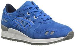 ASICS GEL Lyte III Retro Running Shoe, Mid Blue/Mid Blue, 11