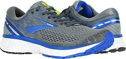 Brooks Men's Ghost 11 Grey/Blue/Silver 12 D US