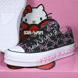 HELLO KITTY X CONVERSE CTAS CLEAN LIFT OX PLATFORM BLACK PIN