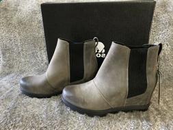 SOREL Joan of Arctic Wedge II Chelsea Boot Bootie Quarry US