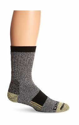 Dickies Men's Kevlar Reinforced Steel Toe Crew Socks, Black,