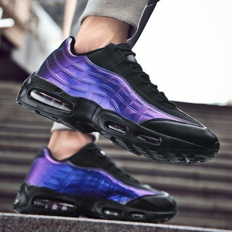Mens Air Cushion Sneakers Breathable Sports Tennis Shoes Run