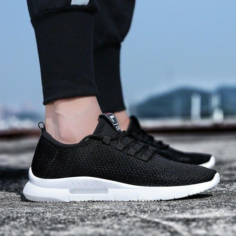 Mens Breathable Trainers Athletic Tennis Gym