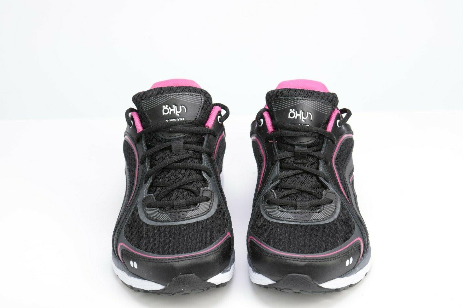 RYKA SKY Walking Shoe, Black/Pink, US