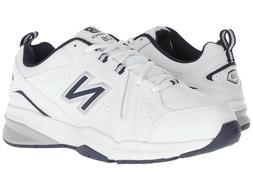 Men New Balance MX608WN5 Walking Leather  White Navy 100%Aut