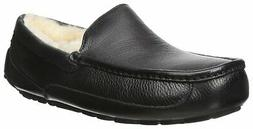 UGG Men's Ascot Slipper, Black Leather, 7 M US - Choose SZ/c