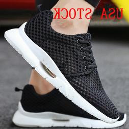 Men's Casual Athletic Sneakers Knit Running Shoes Tennis Sho
