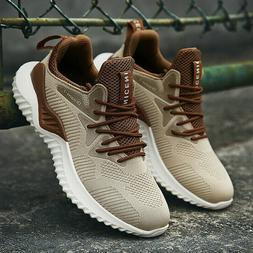 Men's Casual Walking Trainers Sneakers Breathable Fitness Me