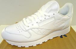 REEBOK Men's Classic Leather Walking Shoe  J90117  White  NW