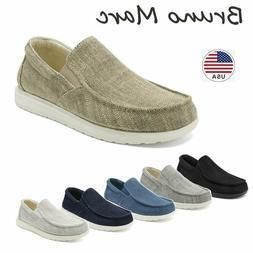 Bruno Marc Men's Lightweight Canvas Slip On Loafer Shoes Moc