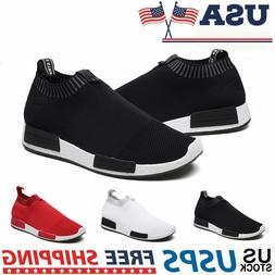 Men's Slip-On Sneakers Fashion Lightweight Athletic Tennis R