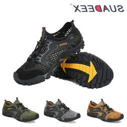 Mens Lightweight Barefoot Water Aqua Shoes Quick Dry Mesh Hi