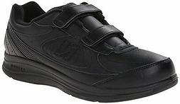 New Balance Men's MW577 Leather Hook/Loop Walking Shoe,Black