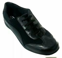 NEW Dr Scholls Womens Walking Shoes Size 5W Black Lace Up Ca