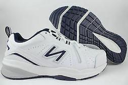 New Men's Training Shoes New Balance 608 V5 White/Navy Size