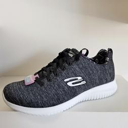 New women's Air Cooled Black Walking Skechers Lace Up Shoes