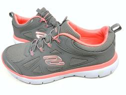 NEW! Skechers Women's SUMMITS SUITED Walking Shoes Gray/Pink