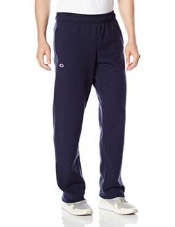 Champion Men's Powerblend Sweats Open Bottom Pants Navy XXL