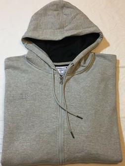 Champion Men's Powerblend Sweats Full Zip Jacket Oxford Grey