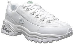 Skechers Sport Women's Premiums Sneaker,White,8 W US