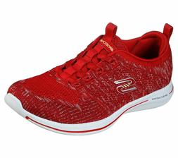 Skechers Red Shoes Memory Foam Women Slipon Comfort Casual S