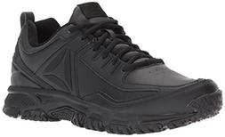 Reebok Men's Ridgerider Leather Sneaker, Black, 12 M US