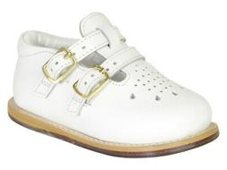 Josmo Toddler's Walker Wide White Leather Walking Shoes