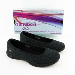 Skechers Women's Go Step-Lite Evoke Slip On Shoe, Black/Gray
