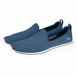 Skechers Women's Go Walk 4 Slip-On Walking Shoes NAVY Blue P