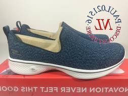Skechers Women's Go Walk 4 Slip-On Wallking Shoes ~ Navy ~ P