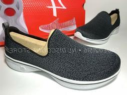Skechers Women's Go Walk 4 Slip On Wallking Shoes ~ Black ~