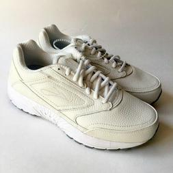 Womens BROOKS DYAD WALKER Ivory Off White Walking Shoes SIZE