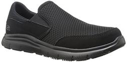 Skechers Men's Black Flex Advantage Slip Resistant Mcallen S